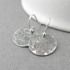 Tiny Sterling Silver Earrings Sterling Silver Jewelry Silver