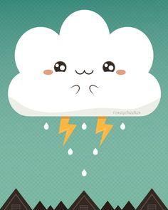 Cloudy Accident | by roseycheekes | via Flickr | #ilustração #illustration #wallpaper #background