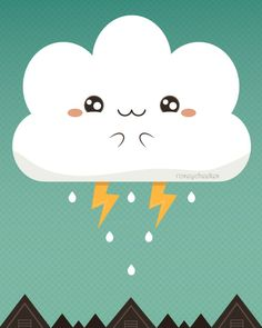 Cloudy Accident by roseycheekes, via Flickr #Kawaii #Draw #Illustration