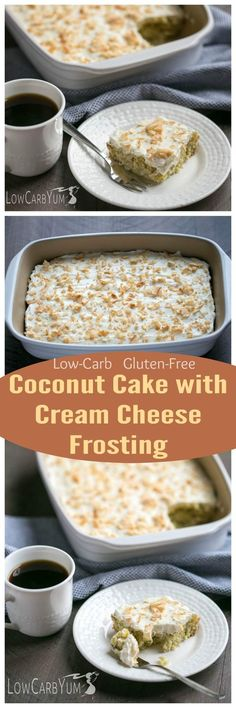 You'll love that this low carb coconut cake with cream cheese frosting contains no sugar alcohols. It's sweetened with a blend of stevia and monk fruit.