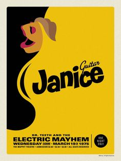 Electric Mayem Band touring posters. 1975 was a very good year -guitar
