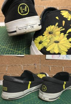Trench and bandito shoes 💛>> gimme Twenty One Pilots Concert, Twenty One Pilots Art, Foto Art, Emo Bands, Band Merch, Painted Shoes, Custom Shoes, Music Stuff, Swagg