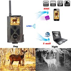 High-Sensitivity Motion Detection Photo trap with Long Range Infrared LED Night Vision Hunting Camera