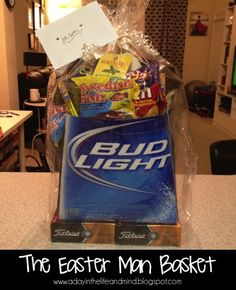 "The Easter ""Man Basket"" - easiest way to a man's heart."