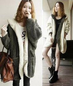 Hoodie Coat , Fashion Winter Women's Warm Thicken Coat Reversible Hooded Lambs Wool Wear Loose Bat-wing Hairy Two Side Clothing ps.easyshop_Coat Fashion,http://www.amazon.com/dp/B00EKJW258/ref=cm_sw_r_pi_dp_.jYYsb15NTM9P6GW