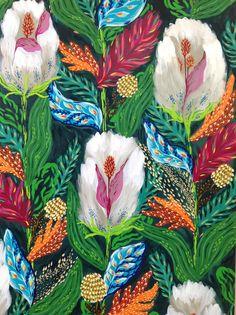 Obra de Luz Preumayr en la feria FLORA en su tercera edición