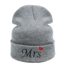 New Mrs or Mr Newly Weds Couples Valentines Anniversary Wedding Beanie Hats