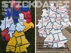 Kurzwaren & Nähzubehör - Deutschlandkarte 13x18 Puzzle Stickdatei - ein Designerstück von GretevomLaendle bei DaWanda