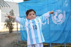 Lionel Messi finally meets Afghan boy who had made his jersey out of plastic bag