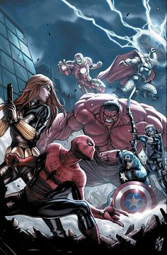 Avengers With Red Hulk vs. Spidey & Black Widow #Marvel #Avengers
