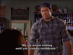 Most importantly, Luke's version of romance is one that we can all happily get behind.   21 Reasons Luke Danes Is The Absolute Perfect Man Luke And Lorelai, Lorelai Gilmore, Tv Show Quotes, Movie Quotes, Dr Hook, Gilmore Girls Quotes, Gilmore Girls Logan, Gilmore Girls Funny, Glimore Girls