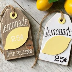 Your place to buy and sell all handmade things, Lemons / Tiered Tray Decor / Lemon Decor / Lemonade / Lemon Lemon Kitchen Decor, Kitchen Ideas, Kitchen Signs, Diy Kitchen, Lemon Crafts, Lemonade Sign, Country Farmhouse Decor, Rustic Decor, Tray Decor