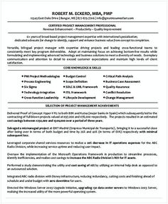 Technical Project Manager Resume  Senior Project Manager Resume