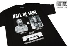 "Hall of Fame Summer 2014 Delivery Now Available. #RasheedWallace VS. #TheUltimateWarrior ""Survivor Series"" tee. #HallofFameLTD #MoneyRuinsEverything"