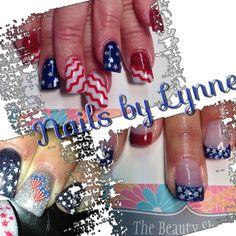 Forth of July Nails New Nail Designs, Cute Nails, Beauty, Pretty Nails, Beauty Illustration, New Nail Art