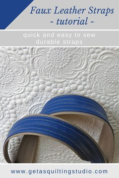 Faux Leather Straps tutorial via Diy Bag Strap, Purse Strap, Fabric Handbags, Fabric Bags, Leather Pouch, Leather Purses, Leather Bags, Leather Tutorial, How To Make Leather