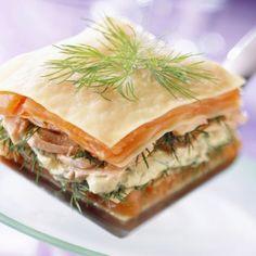 Lasagnes aux deux saumons avec Philadelphia® Saumon et Aneth