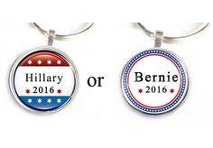 Hillary or Bernie keychain.  Bio in profile. #politics #political