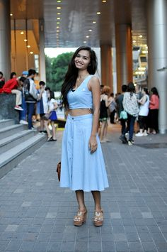 Bangkok streetstyle where double denim takes a delightful turn #trendycrew