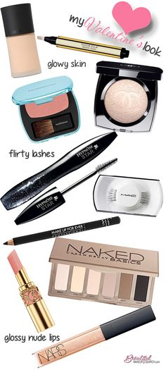How to get an easy, glowy Valentine's look.