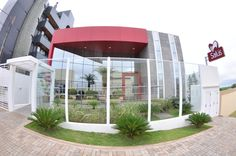 Projeto arquitetônico e interiores   Clínica Salus   Fachada   Cascavel - PR