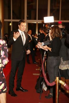 Jimmy Fallon on the red carpet