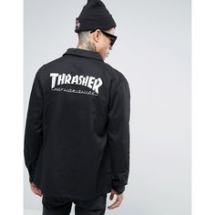 bbd8176d94c HUF x Thrasher Chore Jacket (£105) ❤ liked on Polyvore featuring men s  fashion