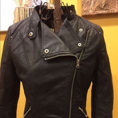 Faux leather Moto jacket Really cute moto jacket with nice details. Jackets & Coats