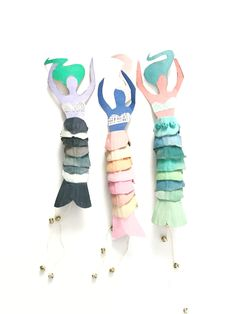 Egg Carton Mermaid Dolls 9