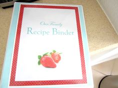 the Three Little Birdies: {Organizing} Recipe Binder Recipe Binders, Little Birdie, Recipe Organization, Three Little, Family Meals, Plastic Cutting Board, Organizing, How To Plan, Recipes