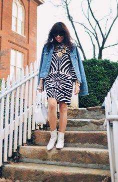 How to wear zebra print.