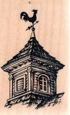 Barn Cupola with Rooster Weather Vane