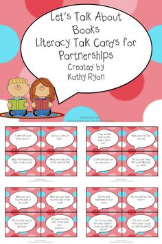 These 40 differentiated Writing Talk Cards will help your students focus their conversations during partner time. Reading Strategies, Reading Activities, Teaching Reading, Reading Comprehension, Teaching Ideas, Guided Reading, Communication Orale, Communication Skills, Readers Workshop