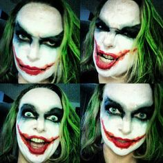 Joker Makeup | I'd use the lip makeup and do the hair similarly but I don't care for the eyes
