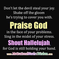 Praise God! Hallelujah!