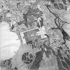 © Fabio Alessandro FUSCO. Analogous Venice | Panels V - XII | Graphite on tracing paper, 12 panels. 50 cm x 50 cm (each), 200 cm x 150 cm (overall)