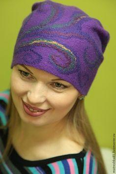 Купить Шапка валяная...женская - шапка женская, шапка женская валяная, валяная шапка женская How To Make Decorations, Felt Hat, Hat Making, Beanie, Fashion, Moda, Fedora Hat, Fashion Styles, Beanies
