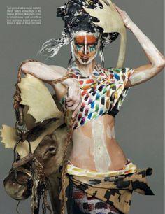 visual optimism; fashion editorials, shows, campaigns & more!: abracadabra: saskia de brauw by steven meisel for vogue italia march 2014