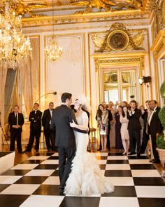 A glam first dance