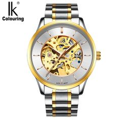 46.28$  Buy here - http://alii1g.shopchina.info/1/go.php?t=32813892218 - IK Genuine Top Brand 2017 Hollow Series Full Steel Automatic Mechanical Men Watch Fashion Casual Watch Men relojes masculinos 46.28$ #magazineonlinebeautiful