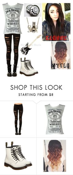"""""""Untitled #144"""" by thugpug887 ❤ liked on Polyvore featuring Tripp, Dr. Martens and Kiel Mead Studio"""