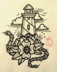 Trendy Tattoo Old School Sea Design tattoo designs ideas männer männer ideen old school quotes sketches Kunst Tattoos, Body Art Tattoos, Tattoo Drawings, Sleeve Tattoos, Trendy Tattoos, Cool Tattoos, Flash Tattoo, Sea Tattoo, Rope Tattoo