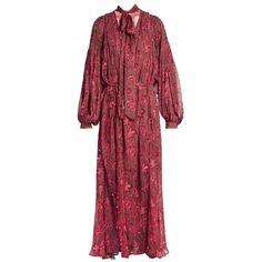 Zimmermann Karmic Chintz Paisley Print Dress (122.610 RUB) ❤ liked on Polyvore featuring dresses, paisley print dress, paisley day dress, red dress, paisley dress and paisley pattern dress