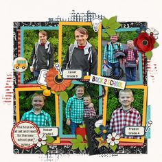 Kit used: 'School Bell' By: Melissa Bennett Designs Available @ Sweet Shoppe Designs Team Page, Kit, Preston, Digital Scrapbooking, Memories, Make It Yourself, Baseball Cards, School, Boys