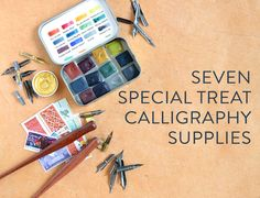 In this blog post, you'll learn about seven calligraphy supplies that can help to enhance your lettering creation!