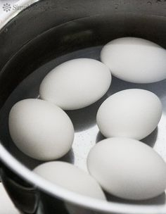 How to Make Perfect Hard Boiled Eggs! Tips for how to boil eggs so they come out perfectly every time.