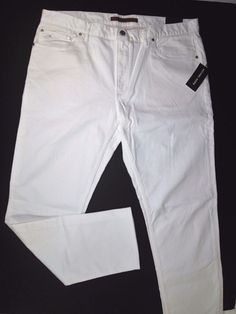 Michael Kors tailored fit white men's jeans size 38x32 new with tags #MichealKors #Slimtailored
