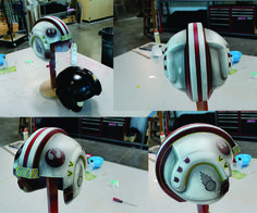 Star Wars helmet made from pepakura pattern. This is one of the best fan made I have seen!