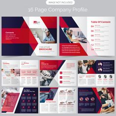 16 page company profile brochure Premium Vector | Premium Vector #Freepik #vector #brochure #business #design #light