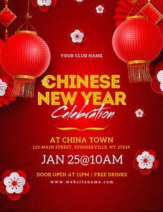 Chinese New Year Celebration Flyer, Chinese New Year Images, Chinese New Year Party, Chinese New Year Poster, Chinese New Year Design, Chinese New Year Decorations, Chinese New Year Crafts, New Years Party, Chineese New Year, Chinese Celebrations
